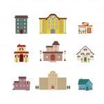 Cartoon isolated buildings — Stock Vector #10074210