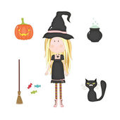 Halloween set — Stockvector