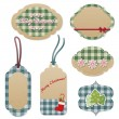 Vintage Christmas tags — Stock Vector