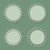 Blank round vintage frames — Stock Vector