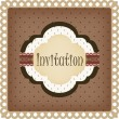 Stock Vector: Vintage invitation card