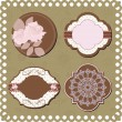 Stock Vector: Vintage stickers