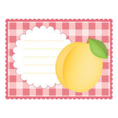 Card with apricot — Stock Vector