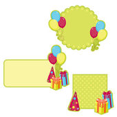 Birthday stickers — Stock Vector