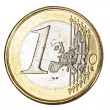 One euro coin — Stock Photo #10482435