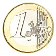 Stock Photo: One euro coin