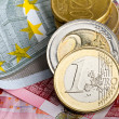 Euro coins and banknotes — Stock Photo #10482693