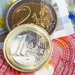 Euro coins and banknotes — Stock Photo #10482808