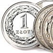 Stock Photo: Polish zloty coins