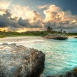 Amazing sunset at Caribbean Sea — Stock Photo