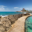 Path at the Caribbean Sea — Stock Photo