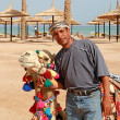 Foto Stock: Bedouin and his camel