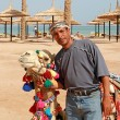 Stock Photo: Bedouin and his camel