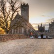 Foto Stock: Adare Abbey at sunset