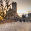 Stock fotografie: Adare Abbey at sunset