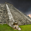 Stock Photo: Storm at Kukulkpyramid in Chichen Itza