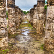 Stock Photo: Temple of Thousand Warriors in Chichen Itza