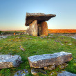 Stock Photo: 5 000 years old Polnabrone Dolmen in Burren