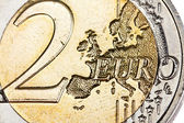 Two euro coin close up — Stock Photo