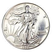 Silver one dollar coin — Stock Photo