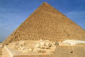 Cheops 在吉萨金字塔 — 图库照片