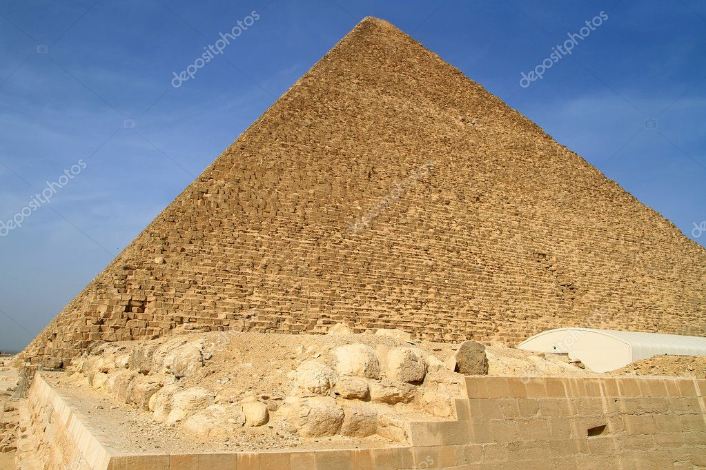 Cheops Pyramid in Giza, Egypt  Stock Photo #10483860