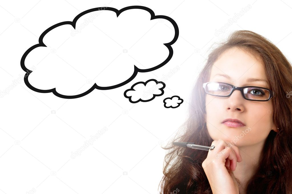 Woman lost in thoughts  Stock Photo #10485946