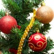 Beautiful Christmas tree decorations — Stock Photo