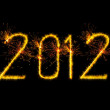 2012 sign made by sparkles — Stock Photo #8307716