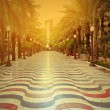 Promenade in Alicante at sunset — Stock Photo