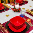 Christmas dinner table — Stock Photo #8307854