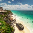 Idyllic beach of Tulum — Stock Photo #8430823