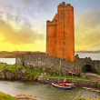 kilcoe castle at sunset — Stock Photo