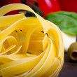 Cooking pasta — Stock Photo