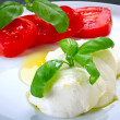 Caprese on the plate — Stock Photo