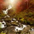 Torc waterfall at autumn — Stock Photo
