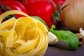 Pasta for cooking Italian — Stock Photo