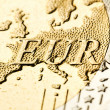 Stock Photo: Euro zone map