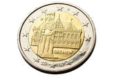 Reverse of 2 euro coins — Stock Photo