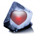 Frozen heart shape — Stock Photo