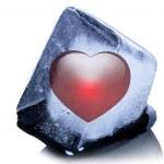 Frozen heart shape — Stock Photo