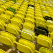 Stock Photo: Yellow stadium seats