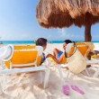 Stock Photo: Holidays under parasol