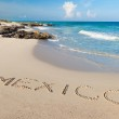 Mexico sign on the beach — Stock Photo #9382718