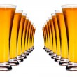 Lines of lager beer — Stock Photo