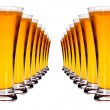 Stock Photo: Lines of lager beer