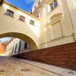 Street of old town in Grudziadz — Stock Photo