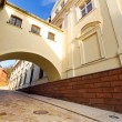 Stock Photo: Street of old town in Grudziadz