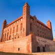 Teutonic castle in Gniew - Stock Photo