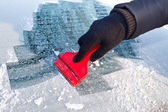 Scraping ice — Stock Photo
